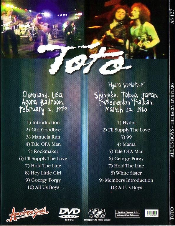Toto / All Us Boys – The Early Live Years /1DVD Digipak – GiGinJapan