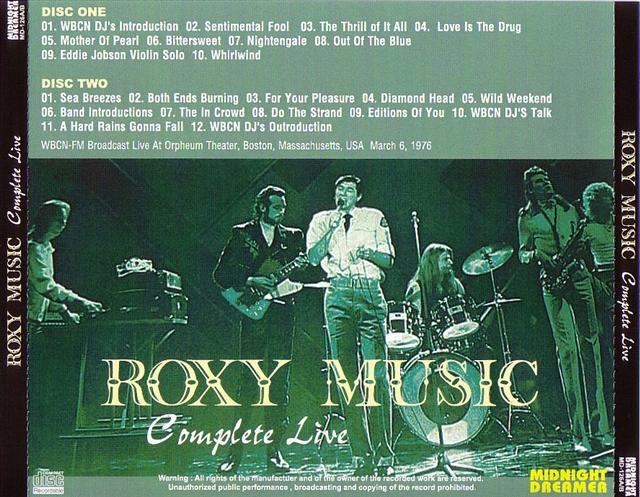 Roxy Music Complete Live 2cdr Giginjapan