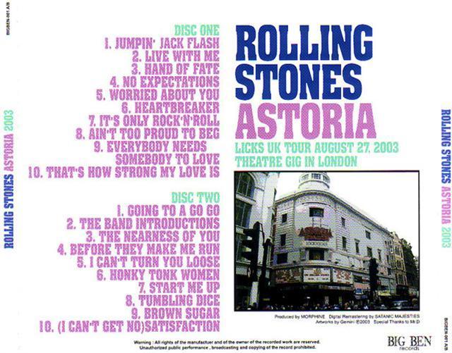 Madison Square Garden: Rolling Stones / Astoria 2003 / 2CD