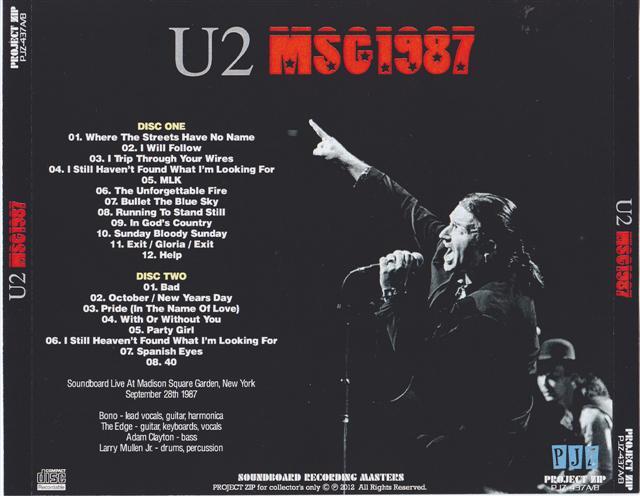 u2 msg click image to enlarge u2 msg1 - U2 At Madison Square Garden