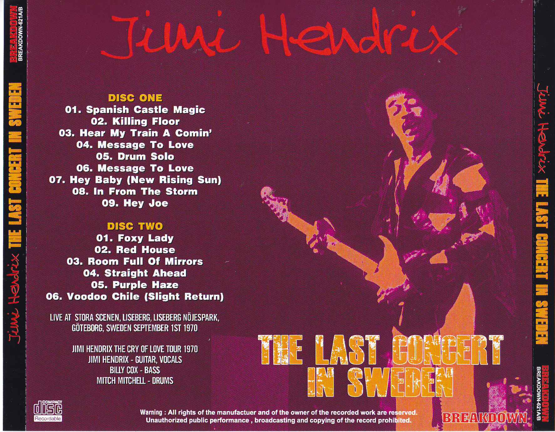 jimi hendrix the last concert in sweden 2cdr � giginjapan
