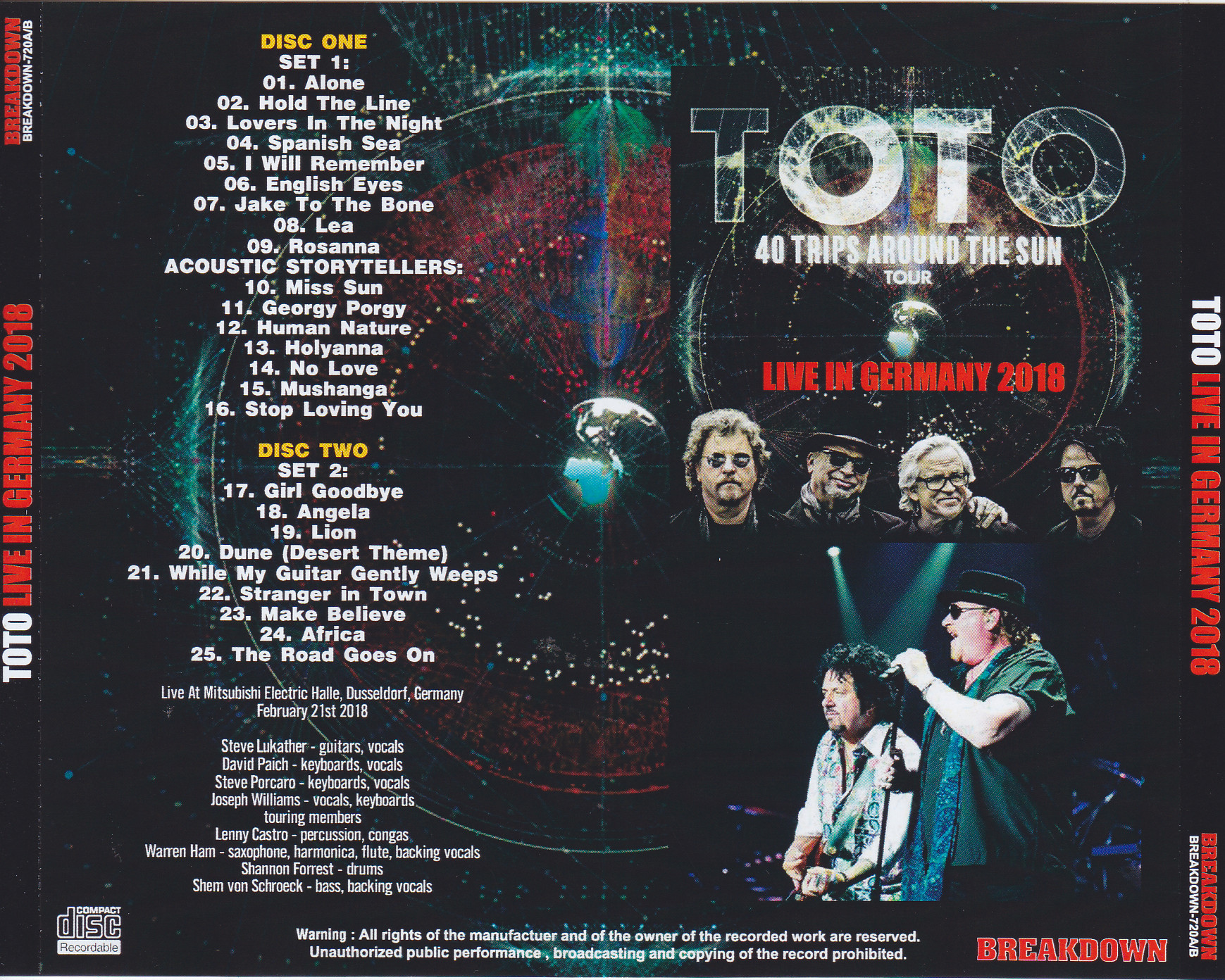 TOTO / Live In Germany 2018 /2CDR – GiGinJapan