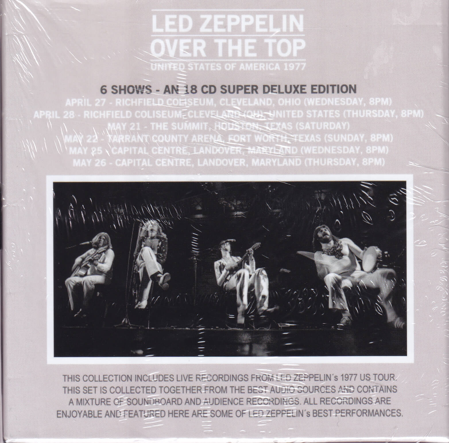 8998b392f6491 Led Zeppelin   Over The Top United States Of America 1977   18CD Box Set
