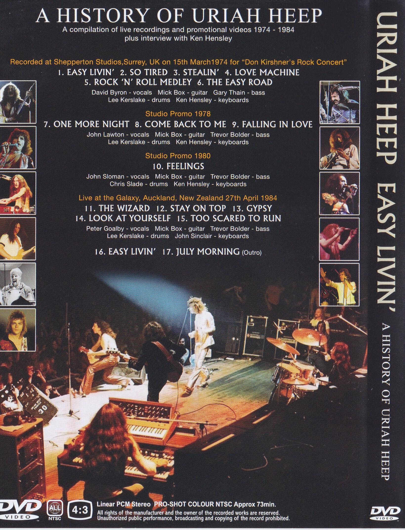 Uriah Heep Easy Livin A History Of Uriah Heep 1dvd Giginjapan